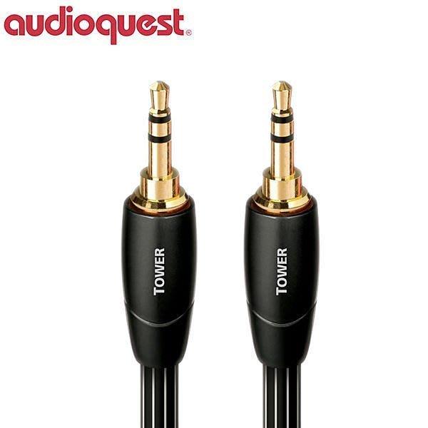 鈞釩音響~美國名線 Audioquest Tower (3.5mm-3.5mm) 0.6m 音源訊號線 皇佳公司貨