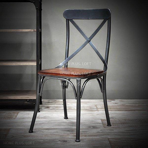 【拓家工業風家具】LOFT鐵製木墊餐椅/咖啡店酒吧餐廳民宿/美式鄉村風/做舊酒吧椅餐桌餐椅