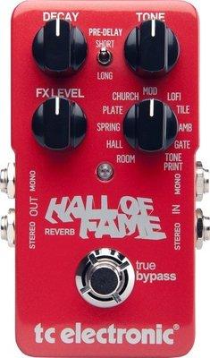 ☆ 唐尼樂器︵☆ TC Electronic Hall Of Fame Reverb 單顆 空間 效果器