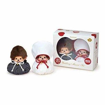 尼德斯Nydus~* 日本正版 Monchhichi 夢奇奇 結婚禮盒 結婚組 娃娃 絨毛玩偶 公仔 和風/洋服