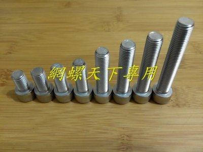 網螺天下※白鐵 不鏽鋼有頭內六角螺絲 M10 P1.25 細牙16mm長,每支10元