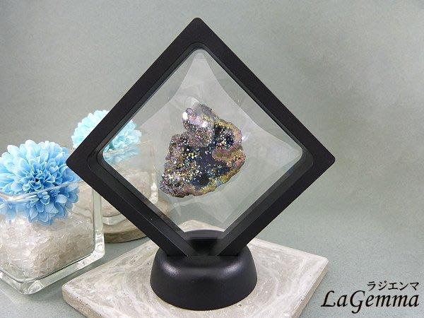 ☆寶峻晶石☆新品~最新穎的時尚居家裝飾,【漂浮寶石相框】五彩水光水晶 FF 相框可打開更換內容物