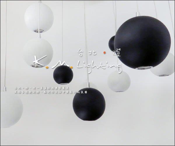 【台北點燈】KMS-3033 黑色圓球 LED圓球吊燈 直徑8cm 餐廳吊燈 LED吊燈 附LED光源