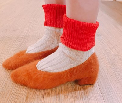 SEYES NYLON复古古著时尚基本款自然风毛毛浅口低跟便鞋