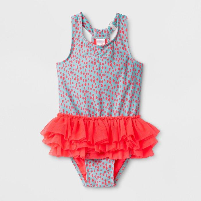 滿699免運 ✓ 美國進口🇺🇸百貨品牌 女童泳衣 / 女童泳裝・防曬 抗UV 連身泳衣 [ 螢光仙子]