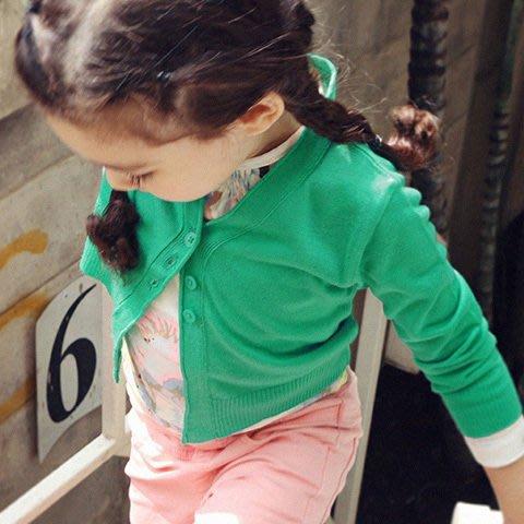 ~Little Pita 韓國 ~ 正韓製 男女童中性 柔軟針織素色排扣 V領毛衣 線衫上