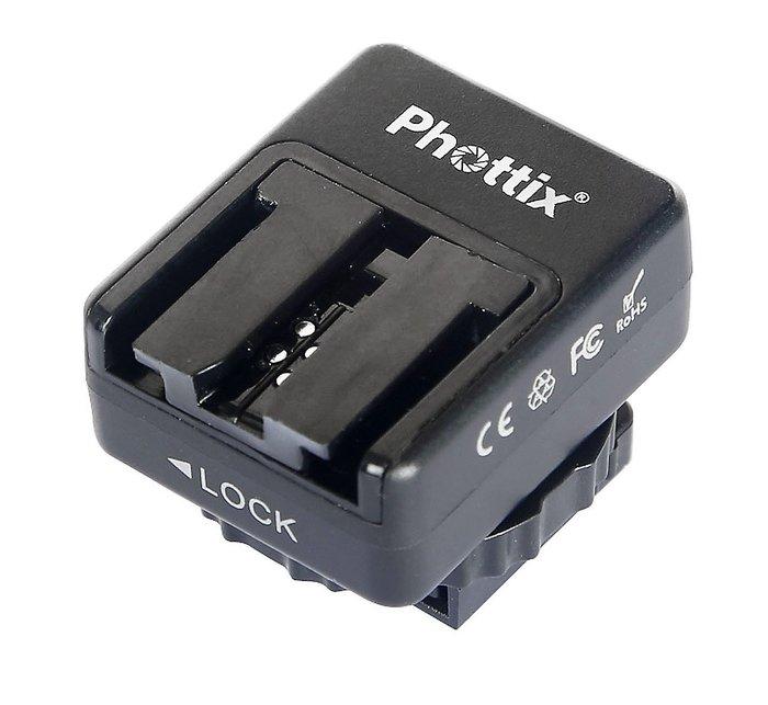 呈現攝影-德國Phottix Sony熱靴轉接座 MI轉ISO 有Pc孔 離機閃 Strato Odin A7