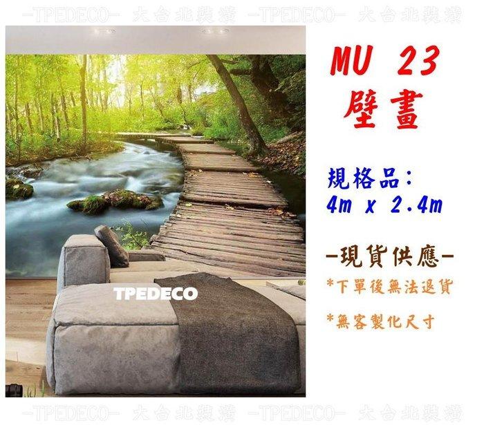 【大台北裝潢】AN大型壁畫/主題牆* 親近大自然 森林小徑 - MU 21 -