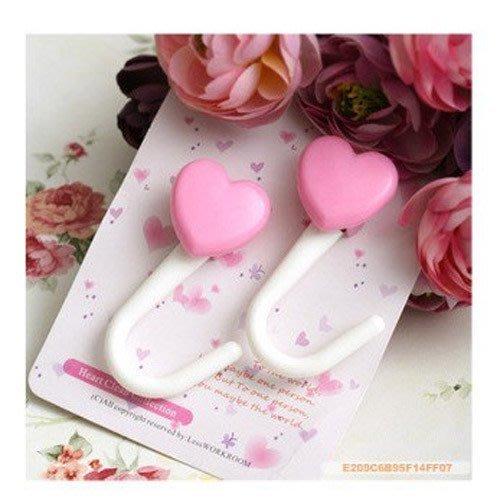 粉色桃心吸盤掛鉤(一對價) / 掛衣鉤/愛心掛鉤 /毛巾鉤 贈品/婚禮小物