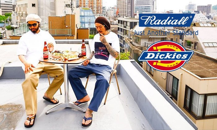 GOODFORIT/ Radiall x Dickies LAID BACK 874刺繡抽繩口袋長褲/兩色