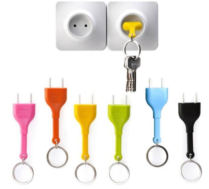創意 插座造型鑰匙圈 不插電鑰匙圈 居家小物 鑰匙圈 插座 批發【Star_EC】現貨+預購