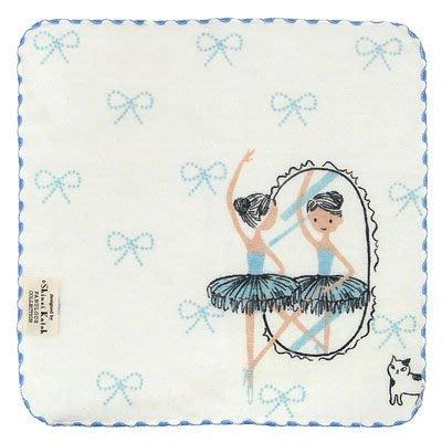 芭蕾小棧生日畢業表演禮物日本進口Shinzi Katoh加藤真治手帕紗布巾方巾毛巾小藍舞衣舞鞋