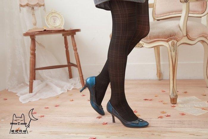 【拓拔月坊】日本知名品牌 M&M Frifla 洞洞線條 氣質格紋 褲襪 日本製~現貨!
