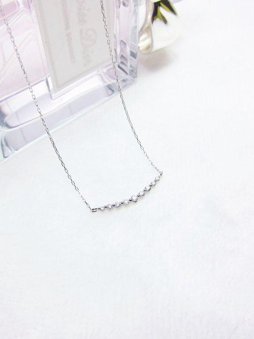 鉑金PT850 微笑弧線鑽石項鍊【元圓珠寶】