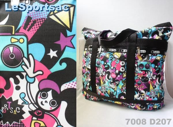 【LeSportsac】100% 全新正品 7008 D207 / ROLLER GIRL 超大容量 側肩包 托特包 旅行袋 媽媽包