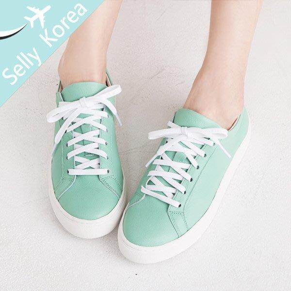 小白鞋 牛皮 真皮 soyou 休閒鞋 正韓 綁帶-Selly -沙粒(KR134)8色