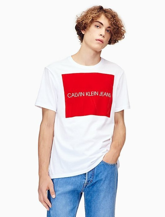 T☆【CK男生館】☆【100%全新真品 Calvin Klein 印圖短袖T恤】☆【CK001B5】(M) 原價1199 7/16到貨