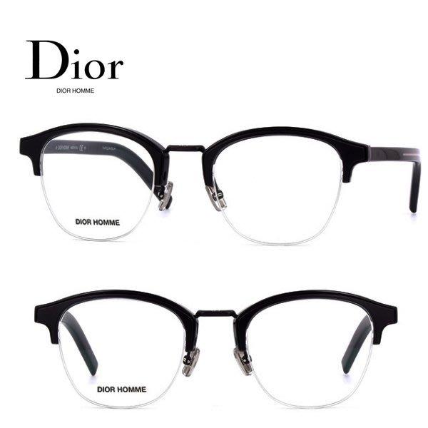 Dior Homme►(黑色框×金屬銀色) 貓眼框型 眼鏡 光學鏡框 中性款 100%全新正品 特價