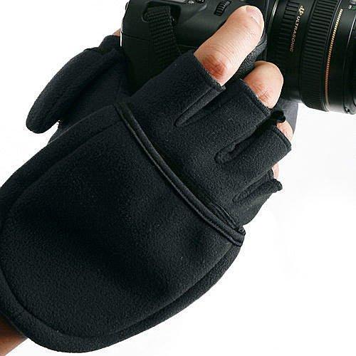 呈現攝影-MATIN MULTI 多功能防寒手套 攝影手套 L/M號 黑/酒紅色 可露指 縮時 星軌 天文