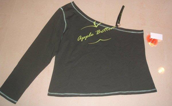 美系品牌大尺寸XL~1X~2X~..墨綠色 深藍色..單肩亮蔥水鑚上衣~~Z.76