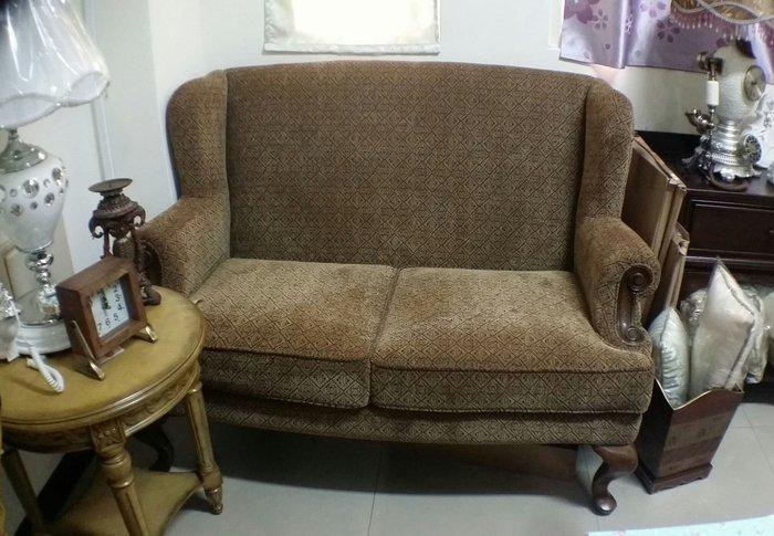美生活館--- 全新經典美式鄉村風格 蘿拉 雙翼高背雙人沙發椅/情人椅/玄關椅