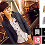 WaLi【F10077】韓版高質感合身窄版點點領巾...