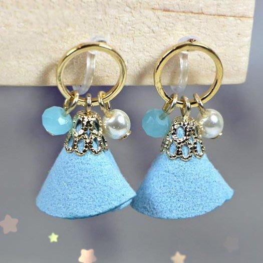 浪漫派飾品 G686-@ 花與夢 兩色可選 夾式耳環 矽膠耳環 無耳洞專用