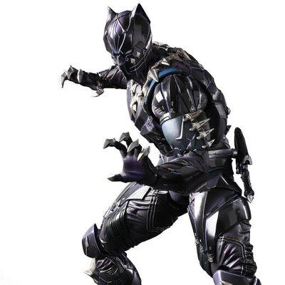 【紫色風鈴】 動漫PA改復仇者聯盟Black Panther 改黑豹盒裝可動 港版
