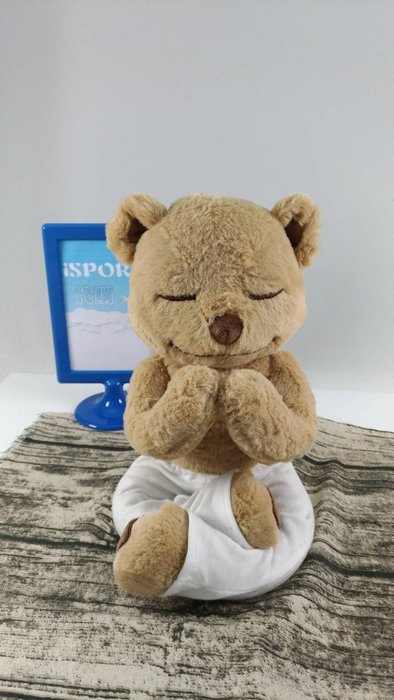 小編激推!美國代購  Meddy Teddy 療癒系瑜珈泰迪熊 YOGA Mindfulness Bear 彌月禮
