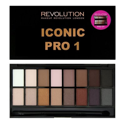 【愛來客】英國Makeup Revolution Iconic Pro 1 Palette 16色眼影盤