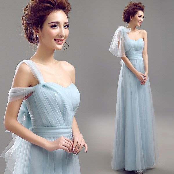 艾琳婚紗禮服~S041211-19一款多穿百变伴娘服蓝色新娘敬酒服晚宴年會主持人婚纱禮服