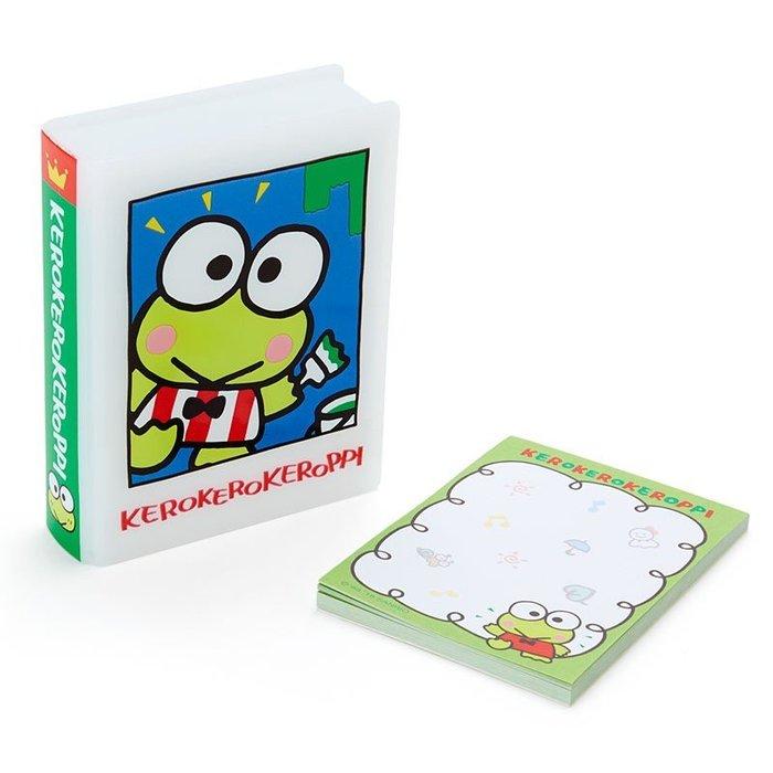 41+現貨不必等 挑戰Y拍最低價 書型便條紙 附 盒子 大眼蛙 KR 日本限定 收納盒 小日尼三 批發零售