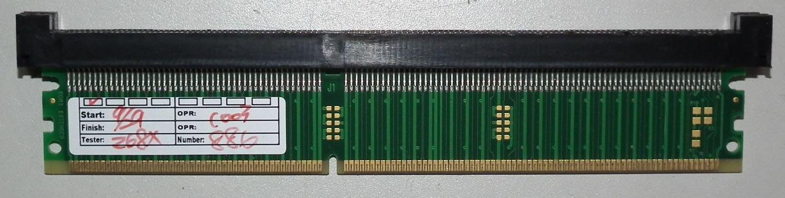 桌上型DDR3 240PIN記憶體轉接卡延伸測試治具ram dimm dram