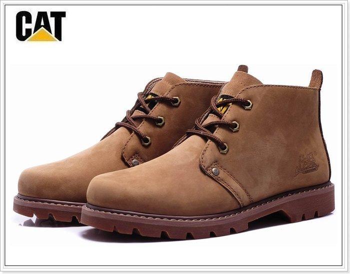 『黑餃ㄇㄇ』【CB007】CAT原廠 中筒磨砂靴 特殊配色 紅棕 量極少 任搭兩款免運