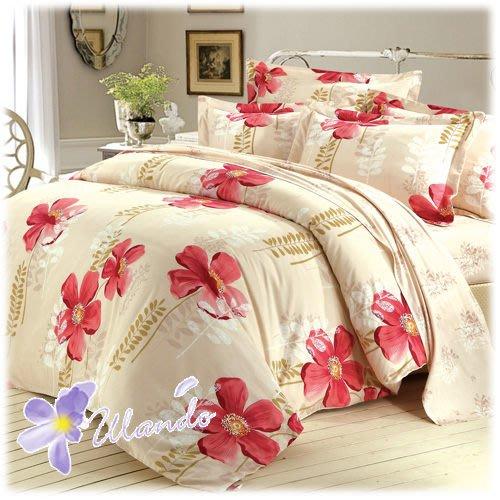 【Ulando】舒柔棉《花飛花舞》雙人三件式床包組