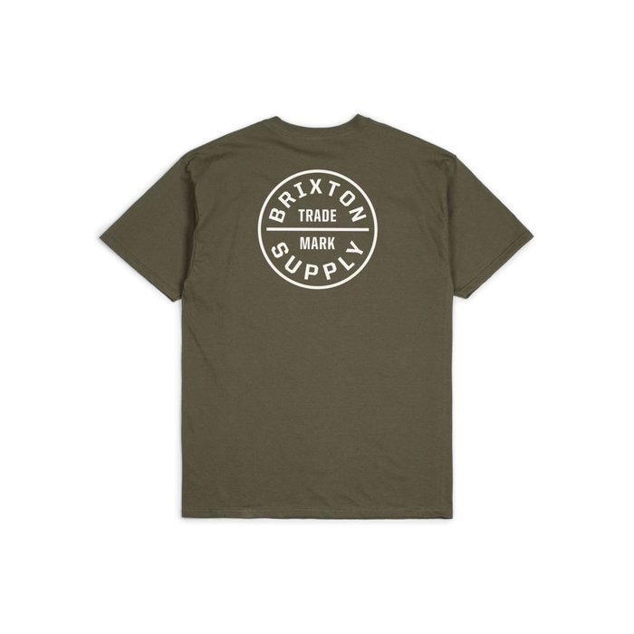 《Nightmare 》Brixton Oath S/S Standard Tee - Olive White 短TEE
