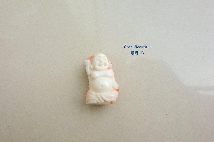 天然A貨-珊瑚-彌勒佛雕刻墜子-B