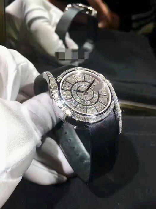 【靚錶閣】頂級新版T鑽滿天星腕錶/69式印/皮帶款