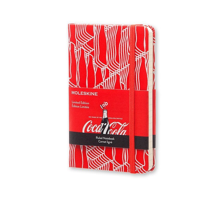 MOLESKINE 限量隱藏版 可口可樂COCA-COLA 硬殼橫條 P口袋型 筆記本