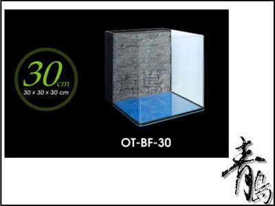 。。。青島水族。。。OT-BF-30台灣UP雅柏-ㄇ型套缸*背部過濾+濾材+馬達(平面)30*30*30cm