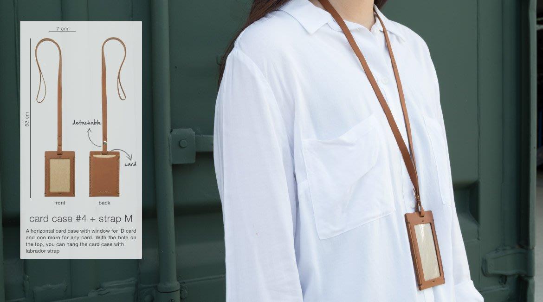 《MoiCnc-生活》 labrador 頂級牛皮 證件套 含背帶 曼谷設計 馬汀等級頂級頭層皮革製 M 05/31收