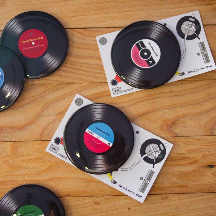 黑膠唱機造型 徽章/胸章/胸針 大(L: 58mm)音樂設計款