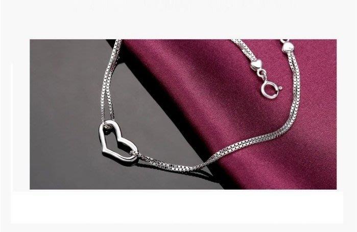 【黛恩珠寶 DIAN JEWELRY】心心系列手鍊925純銀 流行 珠寶鑽石紅寶翡翠網路最低價超低價衝評價時尚韓版服飾飾