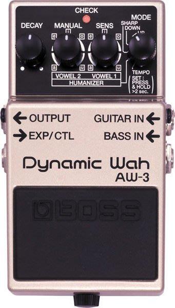 【六絃樂器】全新 Boss AW-3 Dynamic Wah 動態哇哇效果器 / 現貨特價