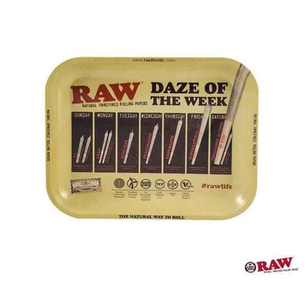GOODFORIT / 西班牙 RAW Daze of the Week Rolling Tray 金屬盛盤