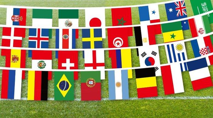 【世明國際】世足 2018 世界盃 世界杯 32強 世界足球賽 世界國旗 32國 串旗 國旗 派對 活動