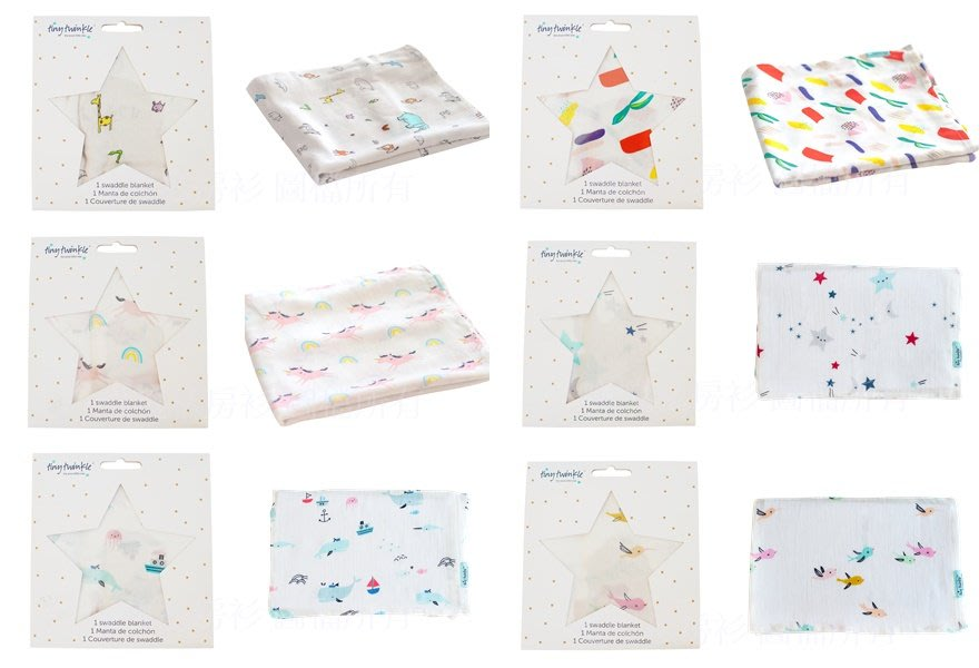 Tiny Twinkle  Tiny Twinkle Swaddle Blanket Single 紗布巾