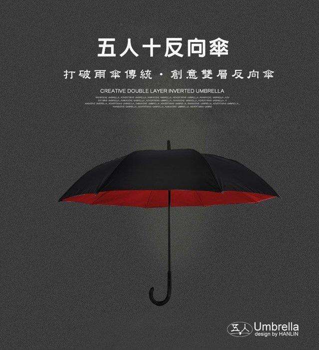 現貨免運/多件優惠【JinG】HANLIN五人十防雨傘抗風防曬隔熱新型弧面反向傘超薄高雙層密度碰擊抗UV99% 不生鏽