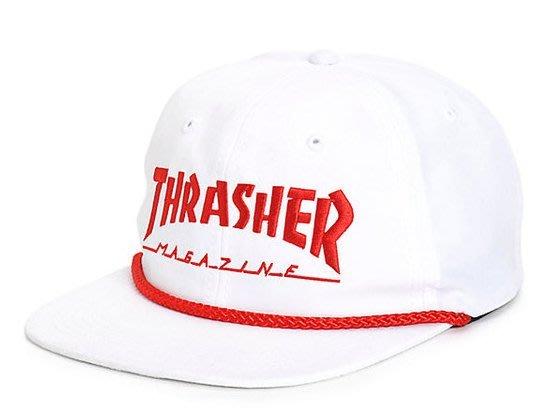 《Nightmare 》Thrasher Magazine Rope Snapback Hat - White