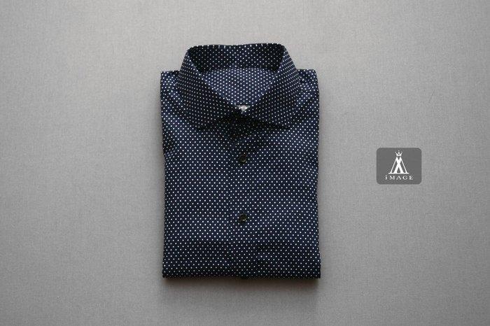 SIMPLE IMAGE(手工製作)紳士其實也穿點點襯衫a663